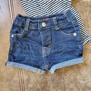 Toddler 7 for all mankind jean shorts